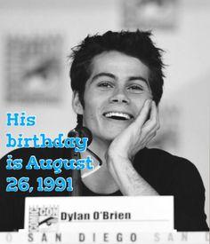 OMG!! Dylan turns 24 today!!! Happy birthday Dylan!!! Ily