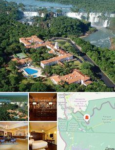 Este luxuoso complexo hoteleiro situa-se em plena floresta exuberante, perto das imponentes cataratas do parque nacional. O centro da cidade de Iguaçu com os seus inúmeros estabelecimentos comerciais e locais de entretenimento encontra-se a cerca de 25 km. O aeroporto fica a cerca de 15 km.