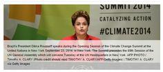 Brasil não assina acordo mundial para reduzir desmatamento .  No mesmo dia em que a presidente Dilma Rousseff exaltou as medidas tomadas por seu governo na área ambiental, o Brasil se recusou a assinar um documento propondo reduzir pela metade a derrubada das florestas do mundo até 2020 . http://www.bbc.co.uk/portuguese/noticias/2014/09/140924_brasil_acordo_clima_lgb \ http://www.brasilpost.com.br/2014/09/23/brasil-acordo-desmatamento_n_5871142.html?utm_hp_ref=pais