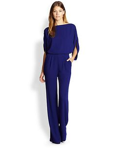 Diane von Furstenberg - Lucy Silk Jumpsuit - Saks.com. Looks fantastic and it's probably really comfortable!