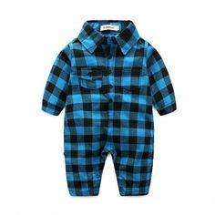 b832ba828b8e Plaid Baby Boy Jumpsuit Baby Jumpsuit, Baby Boy Romper, Baby Overalls,  Toddler Jumpsuit