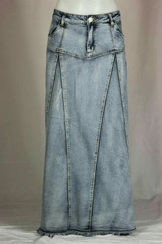Long Denim Skirts | ... .com - Tell a Friend about our Veined ...