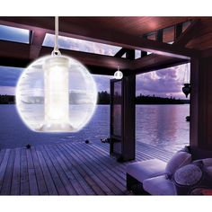 Add glowing ambiance to your yard or patio with the Apothecary & Company Solar powered LED orb light. This unique light combines solar technology with reliable LED illumination to create the perfect o