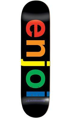 "Enjoi Spectrum Black Deck 8.0"" Resin 7 Skateboard Decks Best Price"