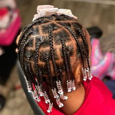 Easy Black Girl Hairstyles, Toddler Braided Hairstyles, Cute Little Girl Hairstyles, Baby Girl Hairstyles, Natural Hairstyles For Kids, Princess Hairstyles, Toddler Braids, Ponytail Hairstyles, Natural Hair Braids