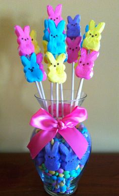 Easter: Peeps centerpiece