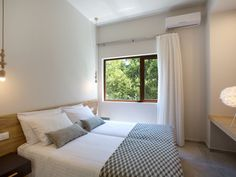 Sfakia villa rental - The second twin bedroom! Private Pool, Contemporary, Modern, Swimming Pools, Twin, Villa, Bedroom, Furniture, Home Decor