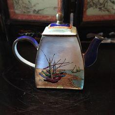Awesome KELVIN CHEN Enamel Mini Teapot  Boat By VAN GOGH Great Ideas