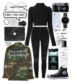 """""""#38 Purpose Tour"""" by anoukvanaanholt ❤ liked on Polyvore featuring Balmain, River Island, Converse, Color Me, NARS Cosmetics, Gucci, Retrò, Byredo and Topshop"""