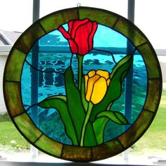 stained glass tulip patterns - Google Search
