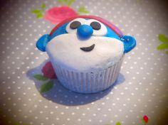 papa smurf muffin