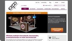 Projectmanagement nieuwe functionaliteiten, product- en contentmanagement in 4 talen (7 landen), content optimalisatie en gebruikersvriendelijkheid website - Expo Display Service
