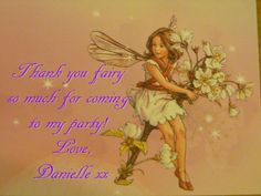 Good bye sign for a garden or flower fairy party!