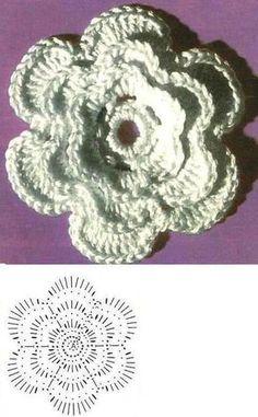 De mano con motivos florales
