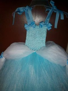 Infant Blue and White Cinderella Dress. Newborn by TotallyTutu4You, $20.00