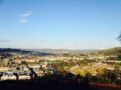 Fanastic views over the city of Beautiful Bath, UK from Alexander Park