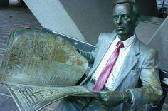 Waiting. Statue by Seward Johnson Jr in the forecourt beneath #Australia Square in #Sydney #travel