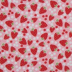 cute pink Michael Miller fabric Strawberry Florets 2, may be perfect for the doll I'm working on right now.