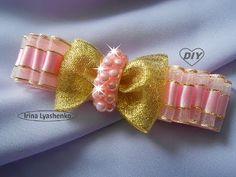 Бантики из репсовых лент МК Канзаши Алена Хорошилова tutorial diy ribbon bow kanzashi из репса - YouTube