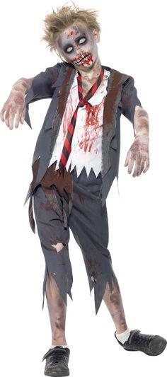 Déguisement zombie écolier garçon Halloween : Ce déguisement d'écolier zombie pour garçon se compose d'un haut et d'un pantalon (Chaussures non incluses). Le haut s'enfile comme un tee-shirt et...
