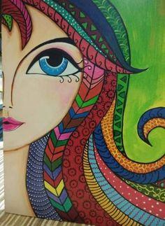 66 Trendy Islamic Mosaic Art For Kids Madhubani Art, Madhubani Painting, Kaktus Illustration, Frida Art, Mandala Art Lesson, Doodle Art Drawing, Indian Folk Art, Indian Art Paintings, Art Drawings Sketches Simple