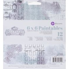 """Prima Marketing Paintables Watercolor Paper Pad 6""""X6"""" 12/Pkg-Salvage District -- Awesome products selected by Anna Churchill"""