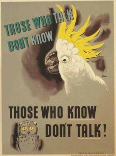 Те, кто много говорит, мало знают. Те, кто много знают, не должны много говорить!
