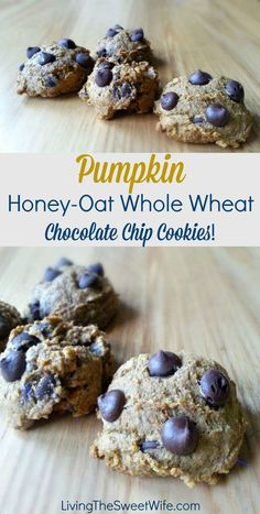 Pumpkin Honey-Oat Whole Wheat Chocolate Chip Cookies! |Living the Sweet Wife