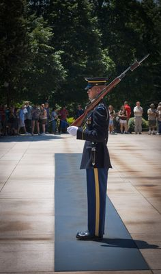 Tomb of the Unknown Soldier in Arlington National Cemetery...one of the most solemn places I have ever been.