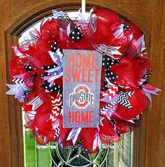 A personal favorite from my Etsy shop https://www.etsy.com/listing/479493403/college-team-wreath-ohio-state