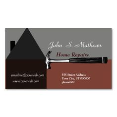 Handyman construction remodeling business cards construction construction handyman tool business card make your own business card with this great design colourmoves