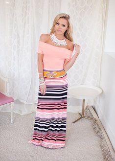 Beauty in Stripes Maxi Skirt