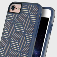 £29.99 Add a touch of geometric flair to your iPhone 7 whilst keeping it well protected with the navy blue and gold Stencil Case from Prodigee.