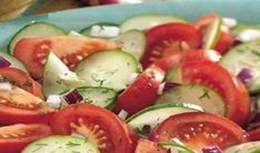 Dilled Cucumber and Tomato Salad use a little Splenda instead of the sugar. Dilled Cucumber and Tomato Salad use a little Splenda instead of the sugar.to taste Source by heatherloberg Tomato Salad Recipes, Cucumber Tomato Salad, Onion Salad, Avocado Salad, Cucumbers And Onions, Advocare Recipes, Cooking Recipes, Healthy Recipes, Top Recipes