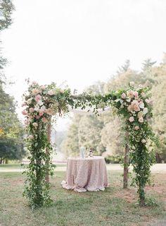 Pergola Over Garage Door Product Wedding Ceremony Ideas, Wedding Ceremony Flowers, Floral Wedding, Wedding Dress, Arc Floral, Floral Arch, Floral Design, Rustic Wedding Decorations, Ceremony Decorations
