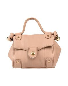 Mini Logo Solid color Magnetic fastening Internal pockets Bag handle Removable shoulder strap Fully lined Contains non-textile parts of animal origin Satchel bags Chloe Handbags, See By Chloe, Sportswear Brand, Pale Pink, Soft Leather, Bag Accessories, Shopping Bag, Shoulder Strap, Satchel
