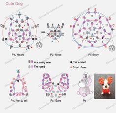 Free 3D  Dog Beading Pattern Instructions