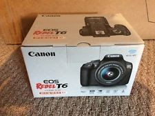 NEW Canon EOS Rebel T6 18.0 MP Digital SLR Camera - Black BODY ONLY NO LENS NEW