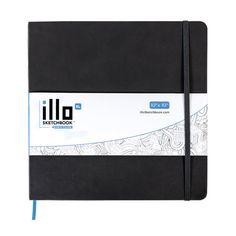 """illo sketchbook   Artist Preferred Square Sketchbooks — illo XL 10""""x10"""""""