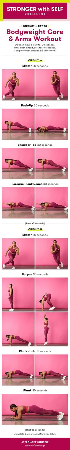 Bodyweight Core and Arms Workout