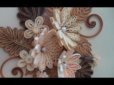 Paper Quilling How to make Beautiful Quilling Brown/white Flower Quilling -Paper Art Quilling - YouTube