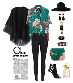 """""""Untitled #79"""" by ycsandjaja on Polyvore featuring Relaxfeel, Gucci, Burberry, Marc Jacobs, Chanel, Balenciaga and Eugenia Kim"""
