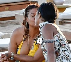 Love is love. Queen Latifah And Partner Eboni Nichols Vacation In Sardinia Queen Latifah wasn't shy about loving up on her partner Eboni Nichols while the pair vacationed in Sardinia... Hit the fli...
