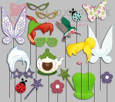 Fairy Party Photo Booth Props Tinkerbell Party by IraJoJoBowtique