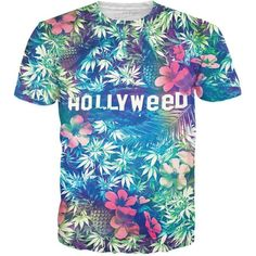 3D Printed T-Shirts Tropical Coral Flowers and Leaves On Black White Short Sleev