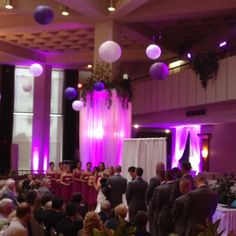 Purple up lighting. Wedding ceremony - Binghamton, NY
