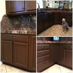 Kitchen Cabinetry painted with Modern Masters Statuary Bronze Metallic Paints | Project by Kelly Peterson