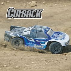 Tower Hobbies Cutback Brushless 4WD RTR. Surf the Dirt in Wave-Curling Style!