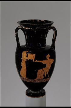 Attributed to the Painter of London E 317 | Terracotta Nolan neck-amphora (jar) | Greek, Attic | Classical | The Met