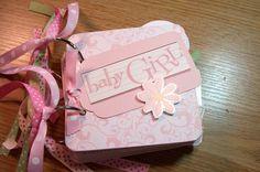 Baby Girl Mini Album Chipboard ScrapbookSALE by HampshireRose